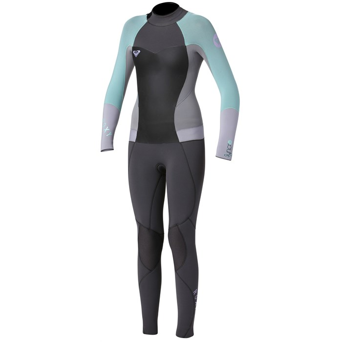 9c4734e8ef Roxy - Syncro 3 2 Back Zip Flat Lock Wetsuit - Big Girls  ...