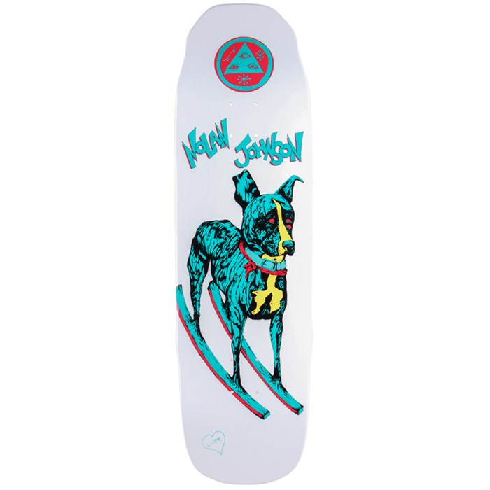 Welcome - Nolan Rocking Dog 9.0 On Sledgehammer Skateboard Deck