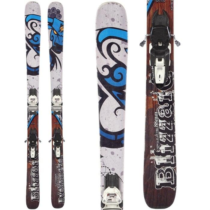 Blizzard Bushwacker Skis + Marker Squire Demo Bindings