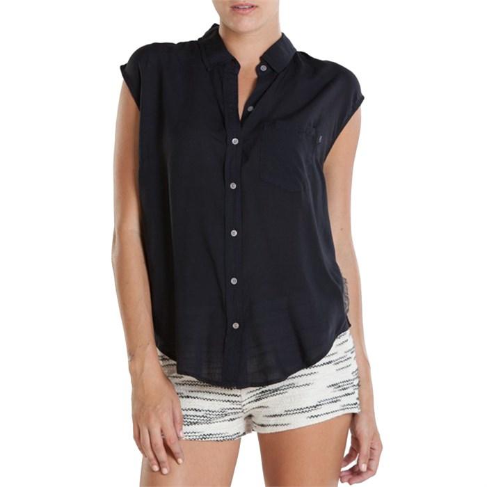 Obey Clothing Peyote Sleeveless Button Down Shirt Women