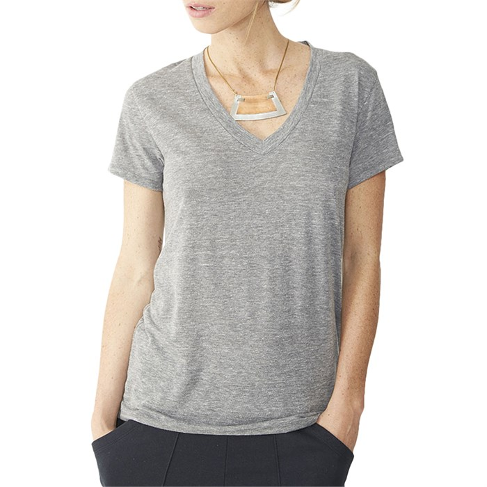 Alternative apparel eco jersey v neck t shirt women 39 s for Womens tall v neck t shirts