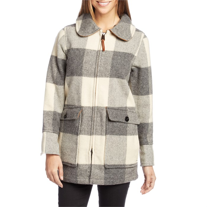 Woolrich - White Giant Wool Buffalo Coat - Women's