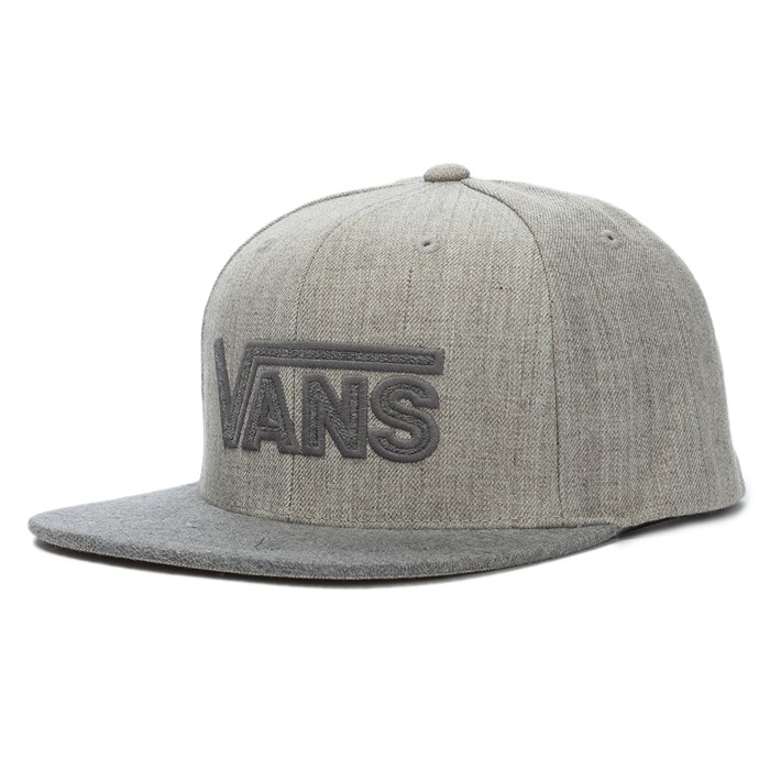 vans snapback grey