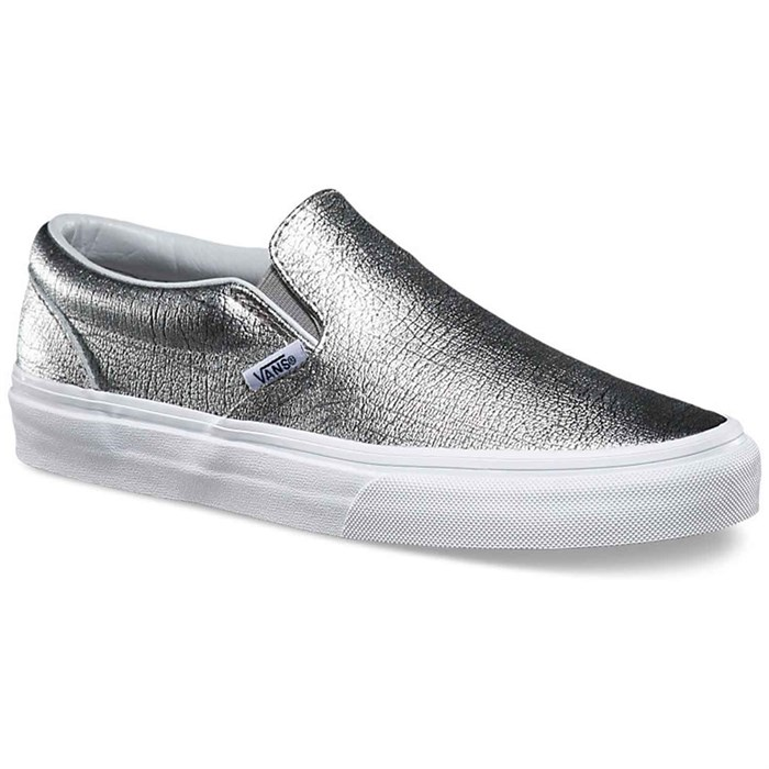 Silver Slip On Vans Shoes