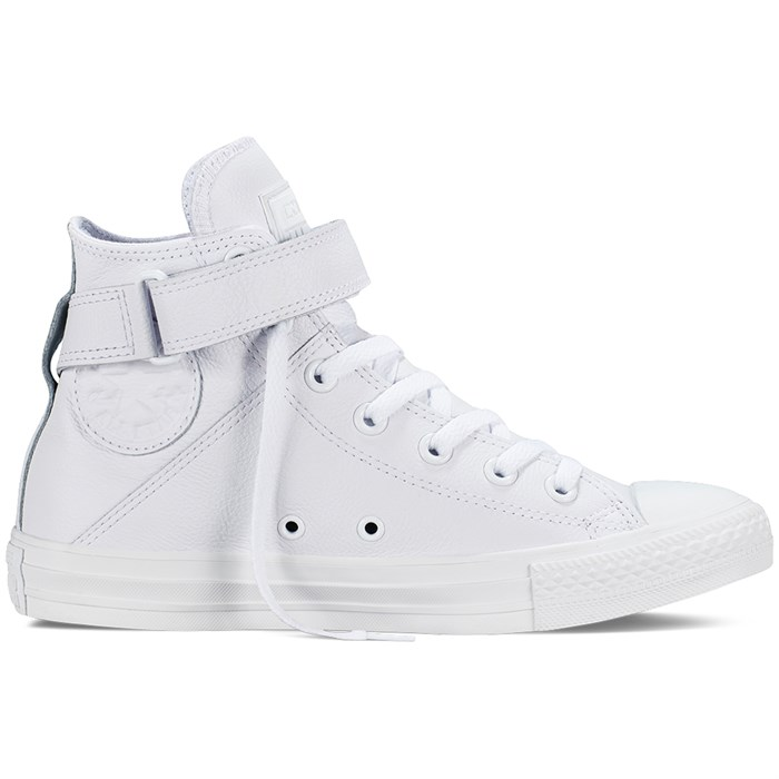 0c69cf5b12fee7 Converse - Chuck Taylor All Star Brea Leather Hi Top Shoes - Women s ...