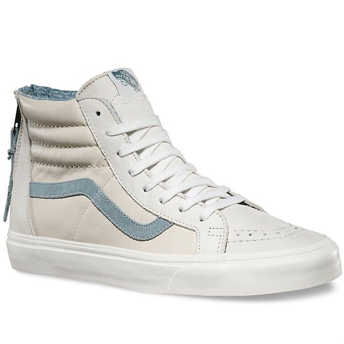 Vans Sk8-Hi Zip CA Leather Shoes   evo