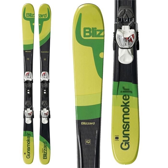 Blizzard - Gunsmoke Jr Skis + IQ 7 Bindings - Big Boys' 2016 - Used