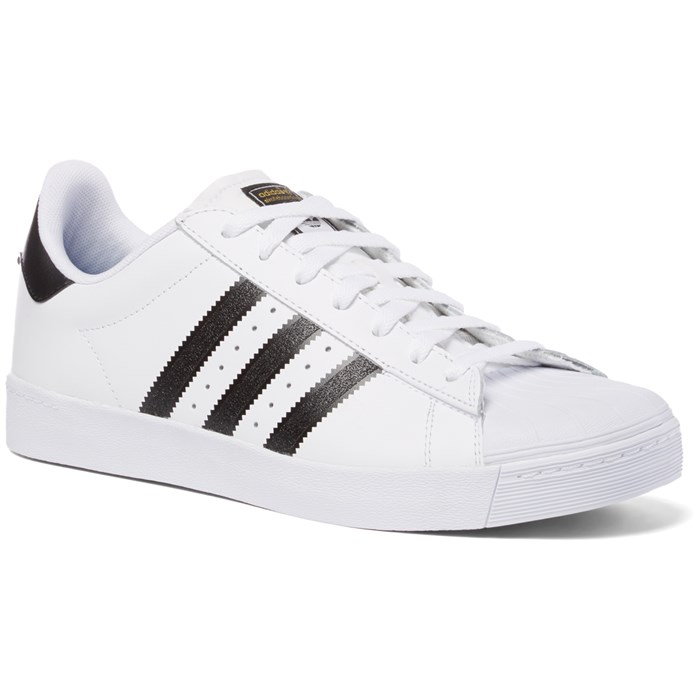 Cheap Adidas Superstar VULC ADV White / Black / White Blades