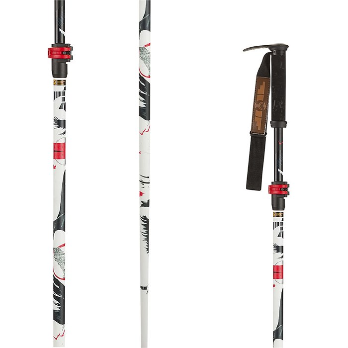 Line Skis - Line Skis Pollard's Paint Brush Adjustable Ski Poles 2016