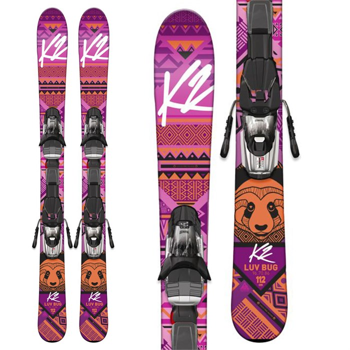 K2 - Luv Bug Skis + Fastrak2 7 Bindings - Big Girls' 2017