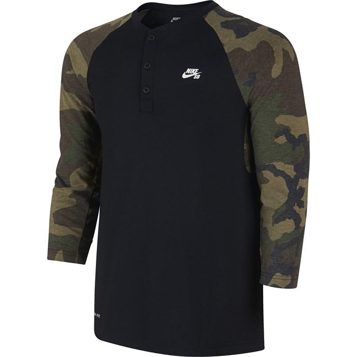 Nike SB - Camo Henley T-Shirt