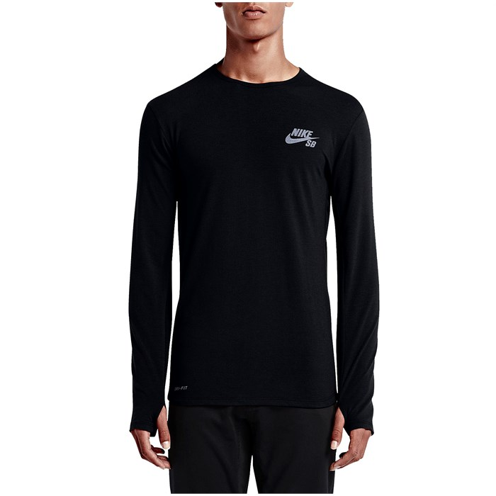 Nike sb skyline dri fit cool long sleeve shirt evo outlet for Dri fit shirts on sale