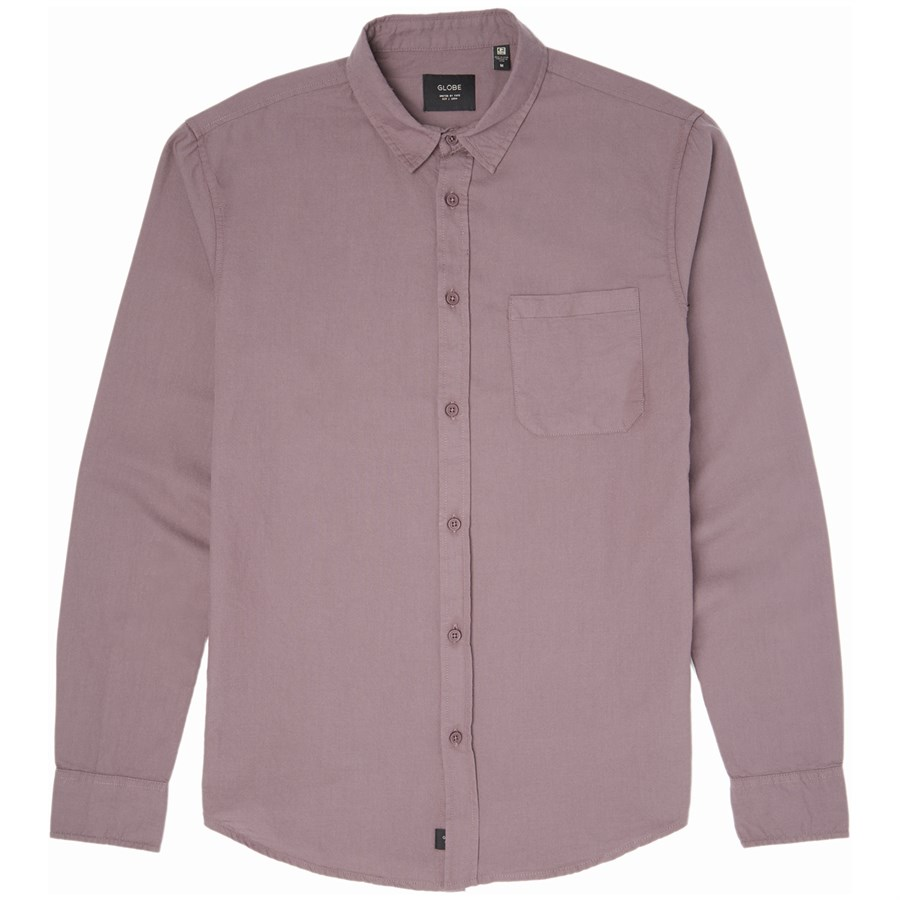 Globe barkly oxford long sleeve button down shirt evo outlet for Oxford long sleeve button down shirt