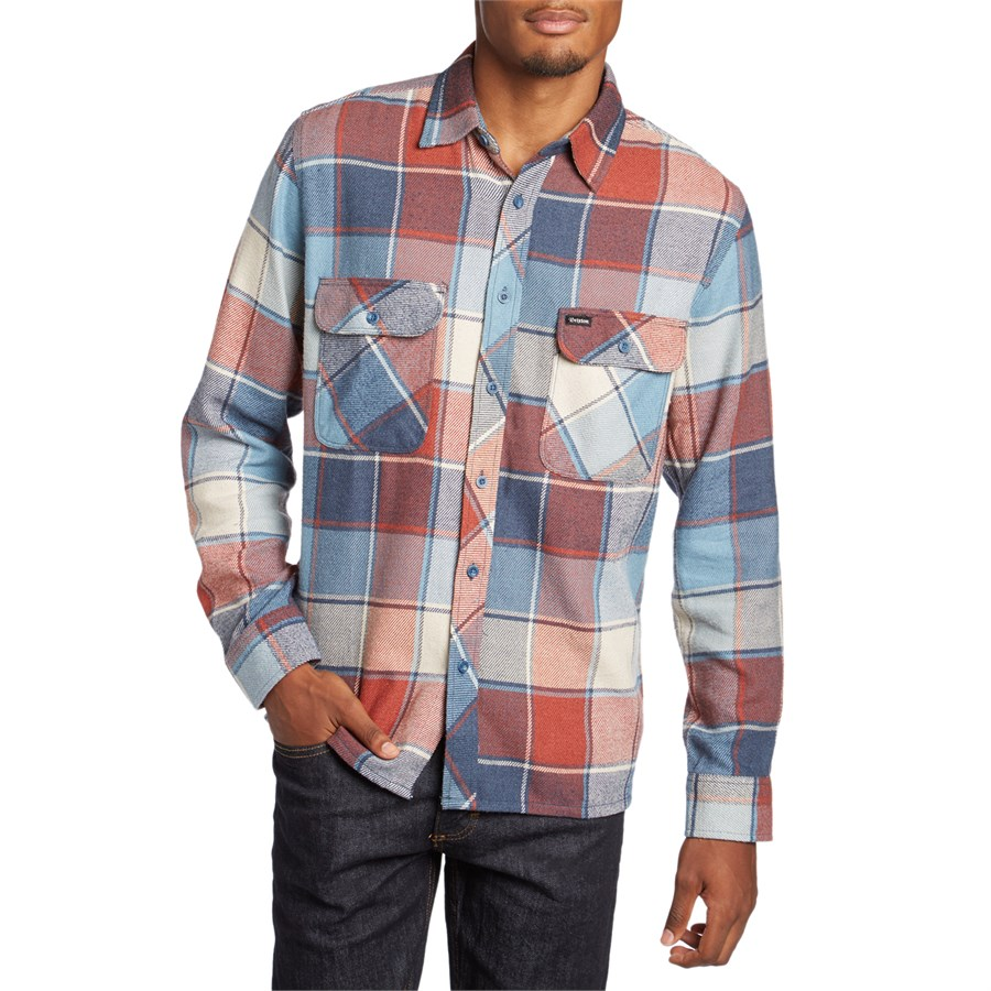 Brixton Archie Long Sleeve Flannel Shirt Evo Outlet