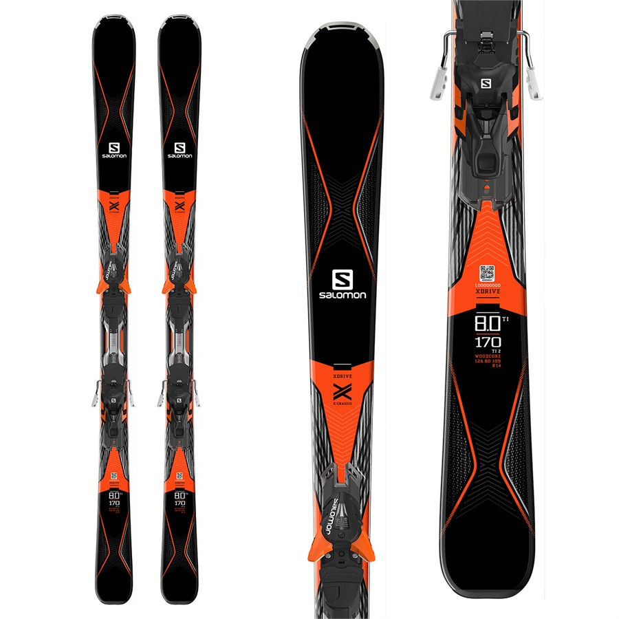 Salomon drive skis xt bindings evo