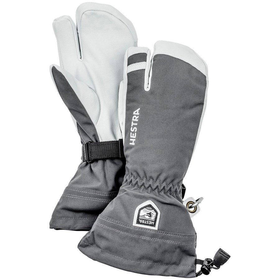 best sell limited guantity new york Hestra Army Leather Heli Ski 3-Finger Mittens | evo