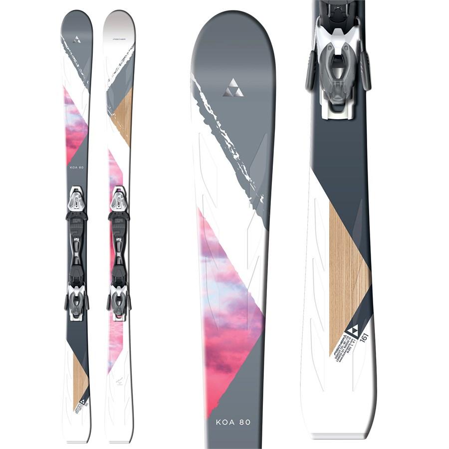Fischer Koa 80 Skis + V10 Ski Bindings - Women's 2016