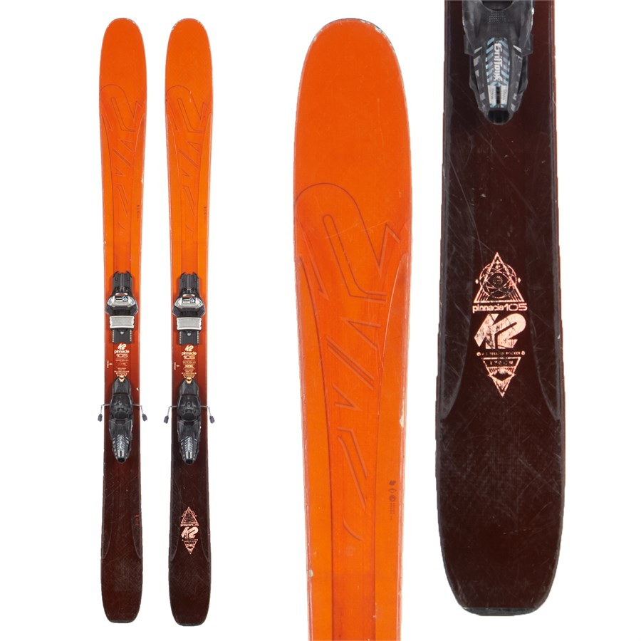 K2 Pinnacle 105 Skis + Marker Griffon 110 Demo Bindings