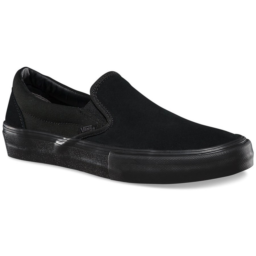 550052f2107 Buy all black leather vans slip ons
