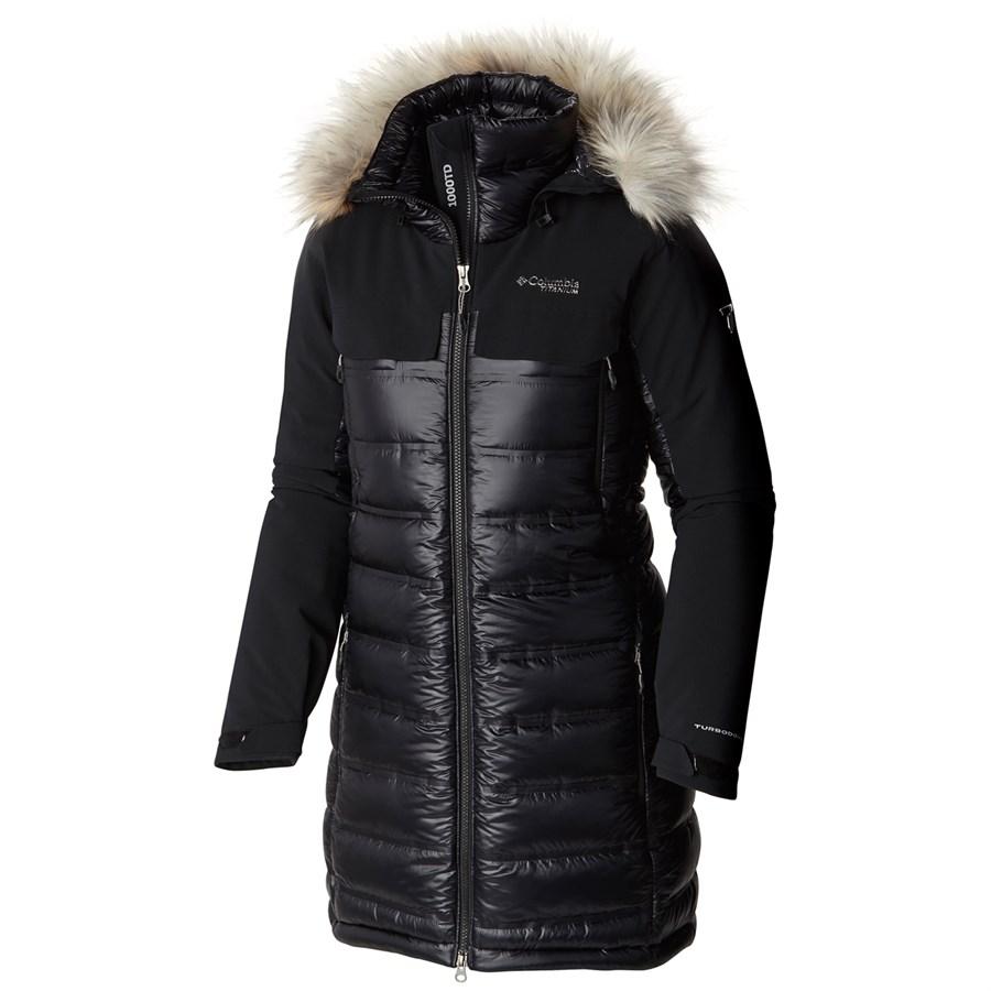 Columbia Titanium Heatzone 1000 Turbodown™ Long Hooded Jacket ...