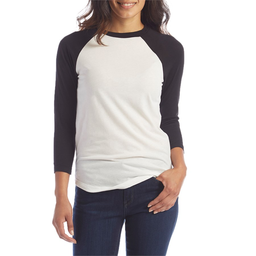 Lira solid raglan t shirt women 39 s evo for Designer tee shirts womens