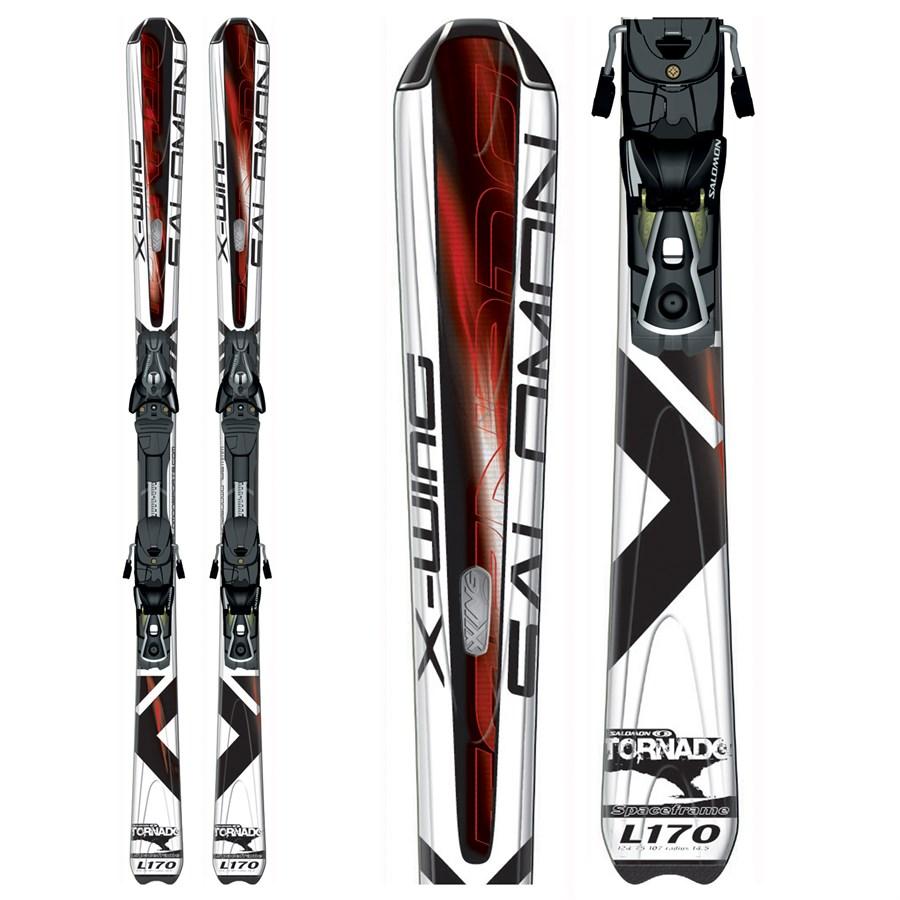 Salomon X Wing Tornado Skis + Bindings - Used 2008