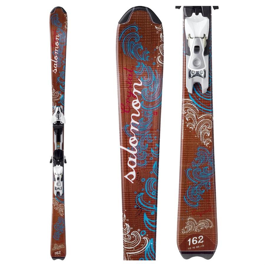 Salomon Crystal Skis + Bindings