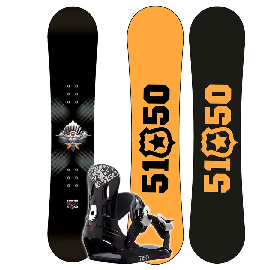 5150 Shooter Jr. Snowboard + FF1500 (Black) Bindings