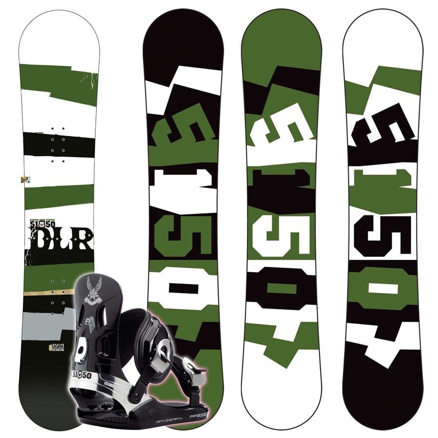 5150 Dealer Snowboard + FF2000 (Black) Bindings 2008
