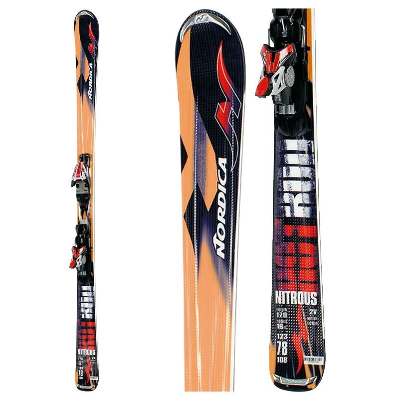 Nordica Hot Rod Nitrous Skis + Bindings - Used 2007