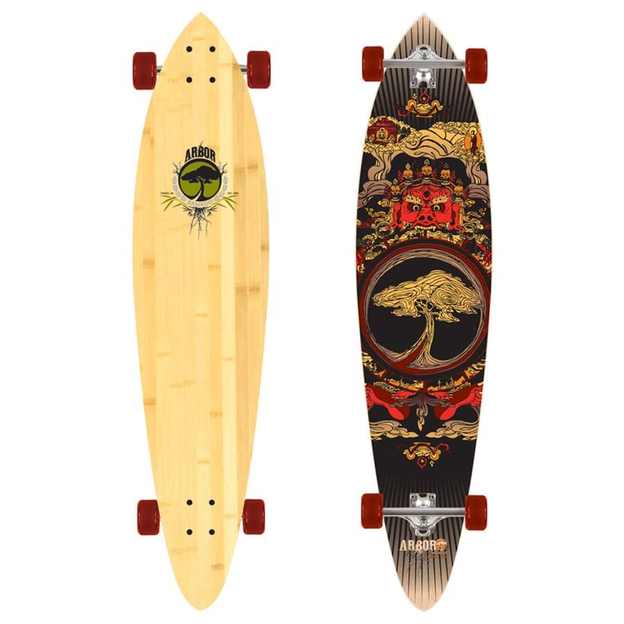arbor fish bamboo longboard evo