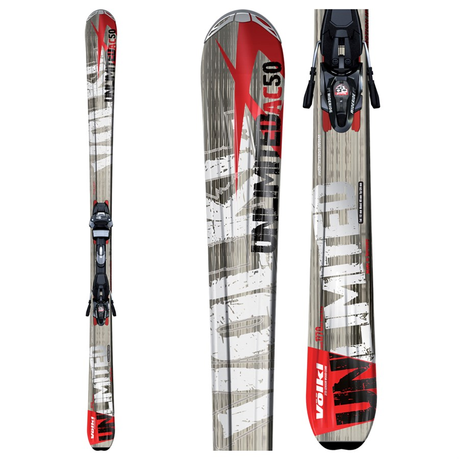 Volkl Ac50 Skis + Marker Wide Ride 12.0 Bindings 2009