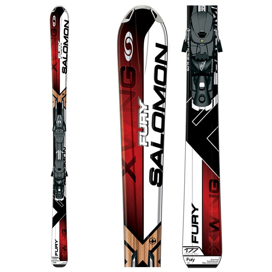Salomon xw fury skis z bindings evo