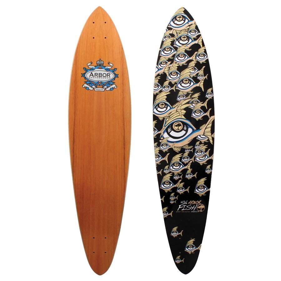Arbor fish koa longboard deck evo for Arbor fish longboard