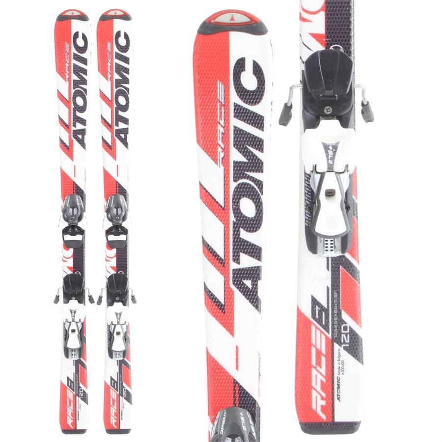 Atomic Race Jr Skis + Bindings - Youth - Used 2007