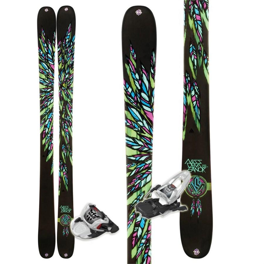 K2 MissDemeanor Skis + 10.0 Free Bindings - Women's 2012