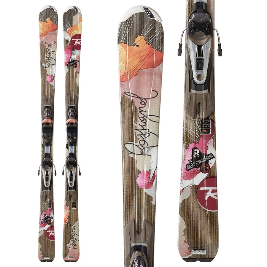 rossignol attraxion 8 echo skis wtpi saphir 110 bindings women 39 s 2012 evo outlet. Black Bedroom Furniture Sets. Home Design Ideas