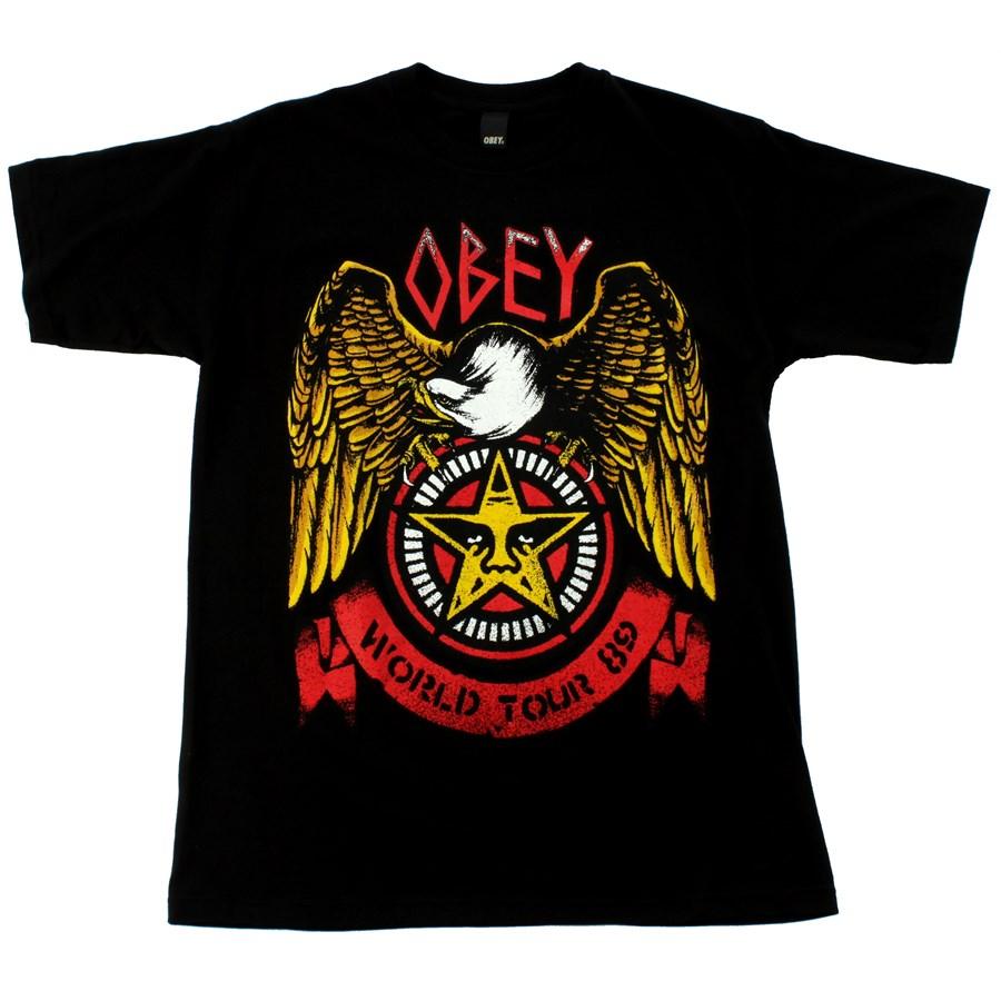 obey clothing thrash eagle basic t shirt evo outlet. Black Bedroom Furniture Sets. Home Design Ideas