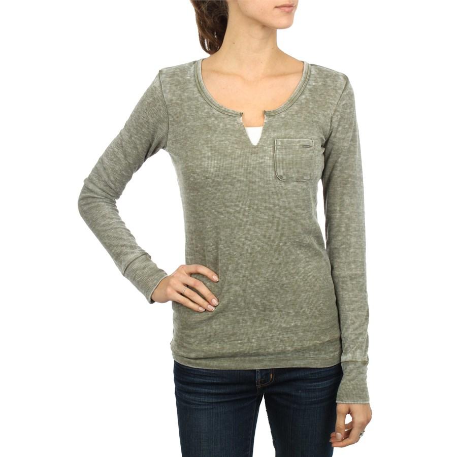 Volcom stone only split neck thermal shirt women 39 s evo for Thermal shirt for women