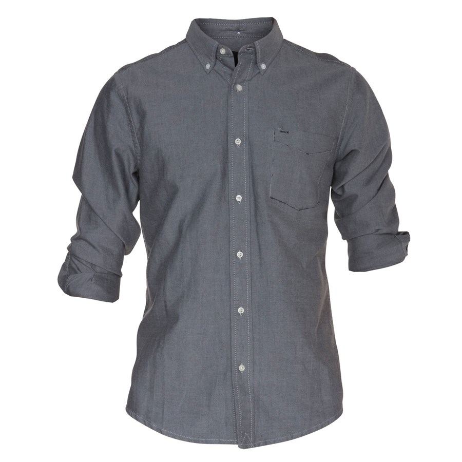 Hurley ace oxford button down shirt evo outlet for Black oxford button down shirt