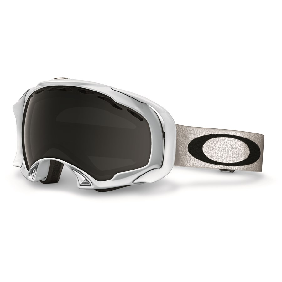 oakley splice goggles on sale  oakley splice goggles polished white dark grey front
