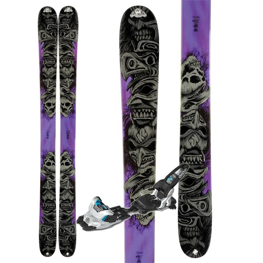 K2 ObSETHed Skis + Marker Griffon Schizo Bindings 2012