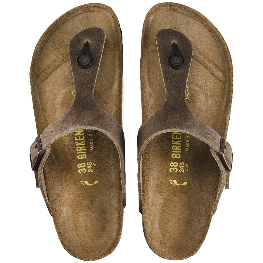 Women's Birkenstock Sandals Leather Gizeh Oiled mwOvN08n
