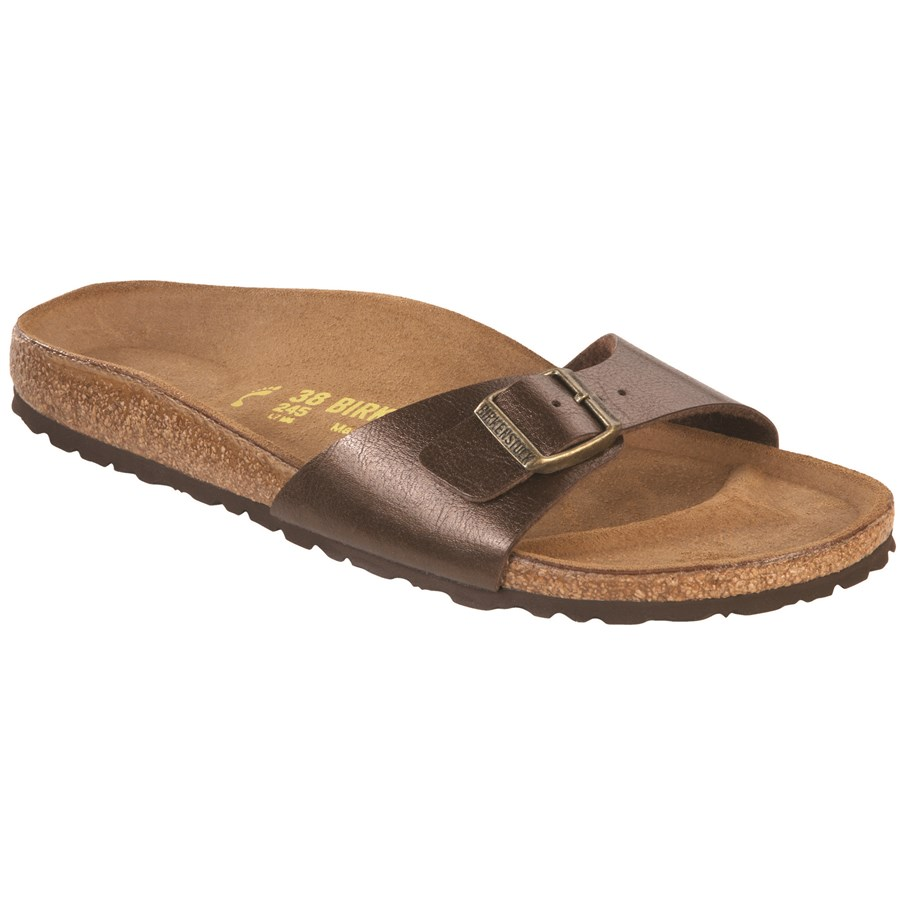 birkenstock madrid slide toffee size 8