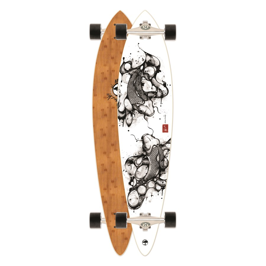 arbor fish bamboo longboard complete evo outlet