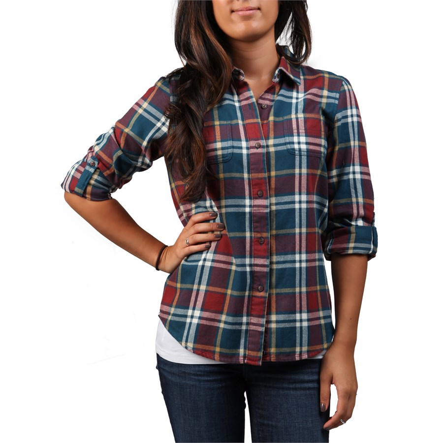 the north face fair acres flannel button down shirt