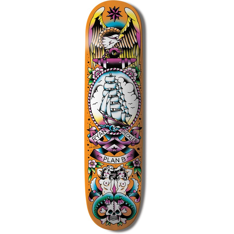 Plan B Ryan Sheckler Color Flash 8.2 Skateboard Deck | evo ...