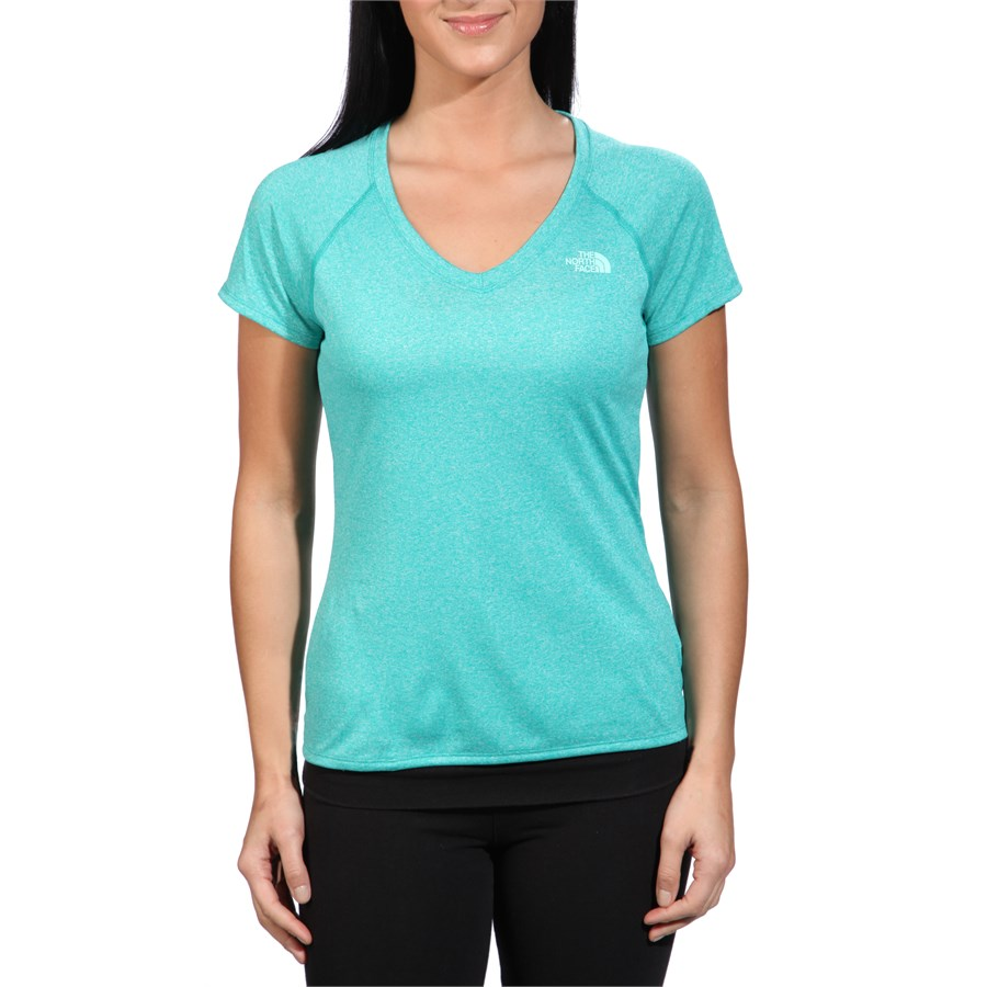 The north face reaxion v neck t shirt women 39 s evo outlet for Womens v neck t shirts