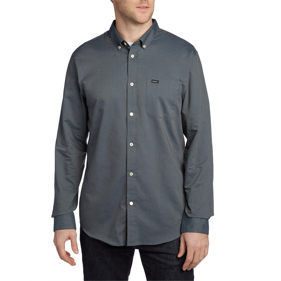 Rvca that 39 ll do oxford long sleeve button down shirt evo for Oxford long sleeve button down shirt