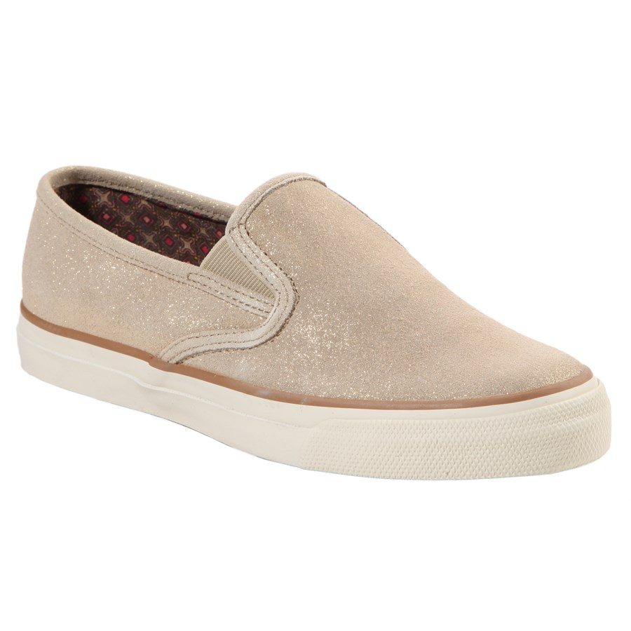 Shop women's slip-on sneakers with embroidery, mixed fabrics, knots & other embellishments. Check out awesome high top sneakers in glitter, violet, fur and metallic for women's sneaker looks that are anything but standard.